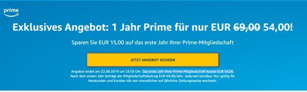 Amazon Prime günstiger abschliessen
