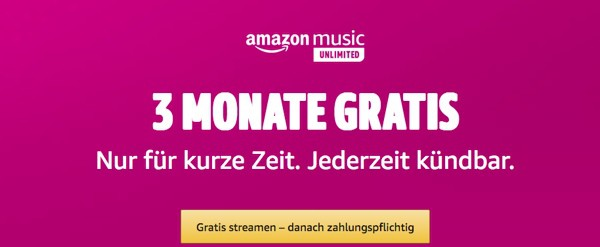 Amazon Music Unlimited gratis testen