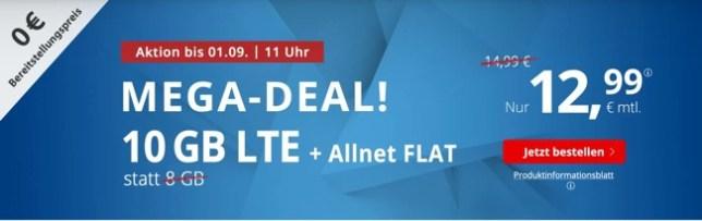 Allnet-Flat 10 GB günstiger Handyvertrag