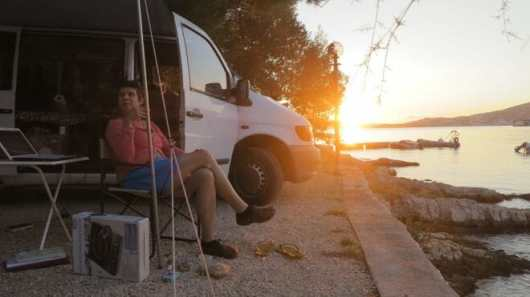 Abendstimmung Kamp Rozac bei Trogir