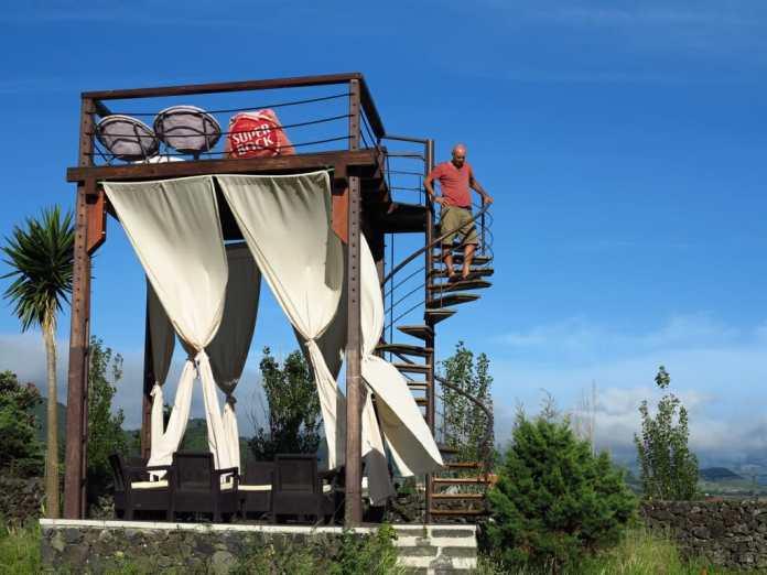 Aussichtspunkt des Campingplatzes Quinta das Lanjaeiras auf Sao Miguel