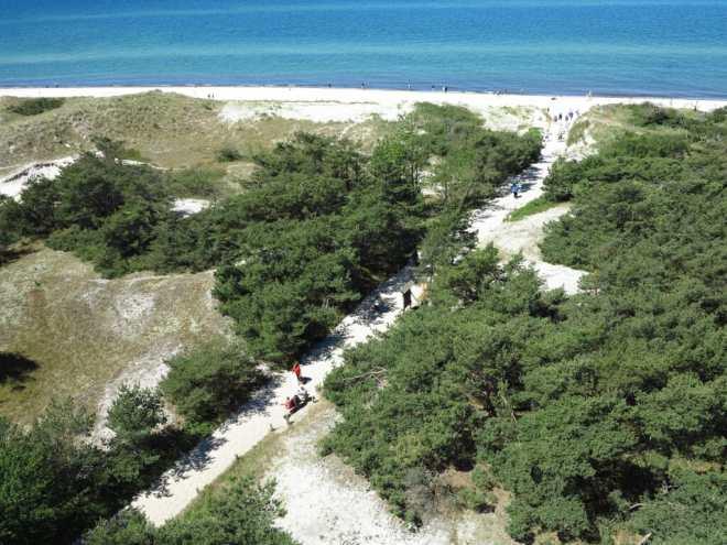 Strand von oben fotografiert