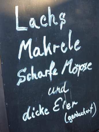 Lachs Makrele Scharfe Möpse Tafel