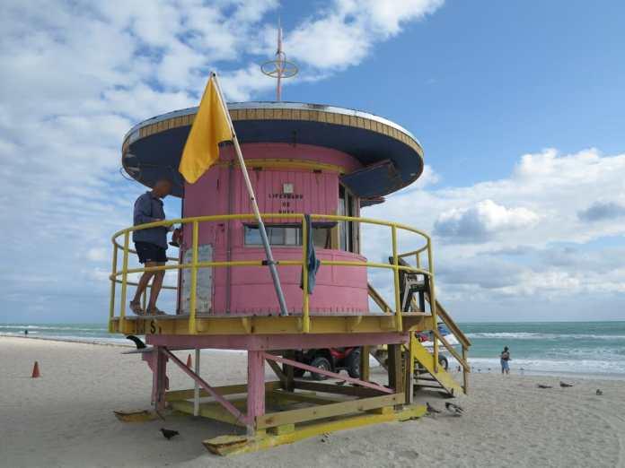 Bademeisterhäuschen in South Beach/Miami Beach