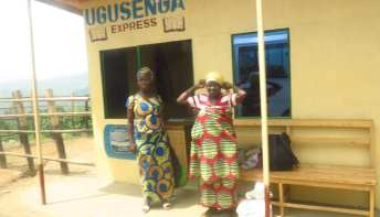 Bushaltestelle in Ruanda