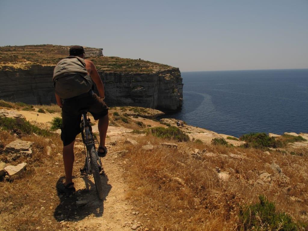 Die Klippen von Sannat auf Gozo