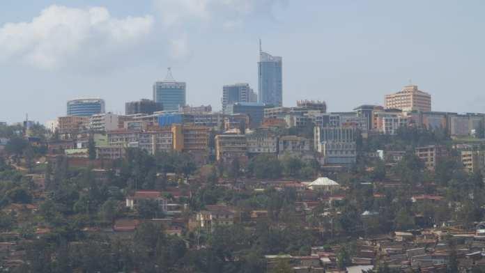 Blick auf Kigali in Ruanda