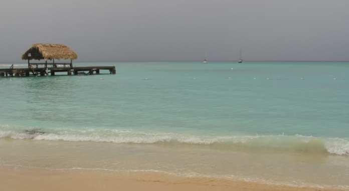 Am Pigeon Point Tobago