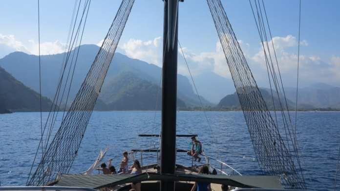 Bootsfahrt entlang der Lykischen Küste in der Türkei