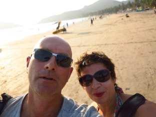 Michael Bussmann und Gabriele Tröger in Goa