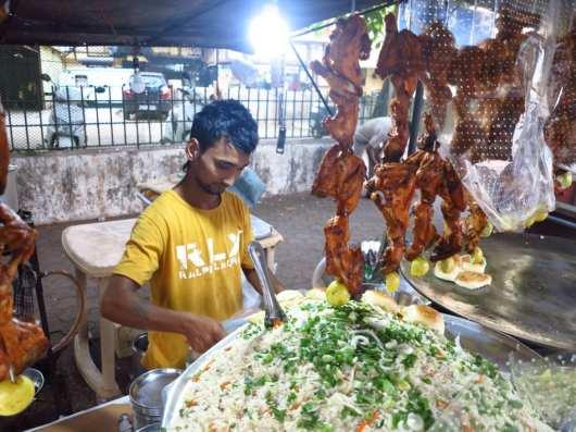 Streetfood in Panjim in Goa