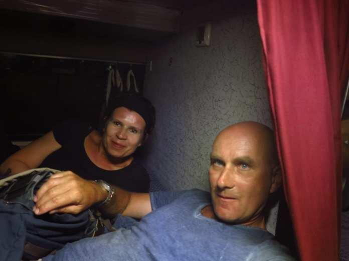 Gabriele Tröger und Michael Bussmann in Hampi in Indien