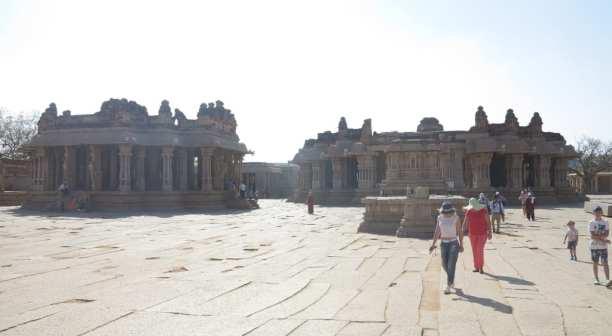 Tempel in Hampi in Indien