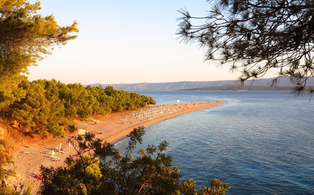 Strand im schönen Abendlicht