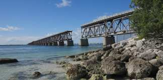 Die Bahia Honda Rail Bridge auf den Keys in Florida