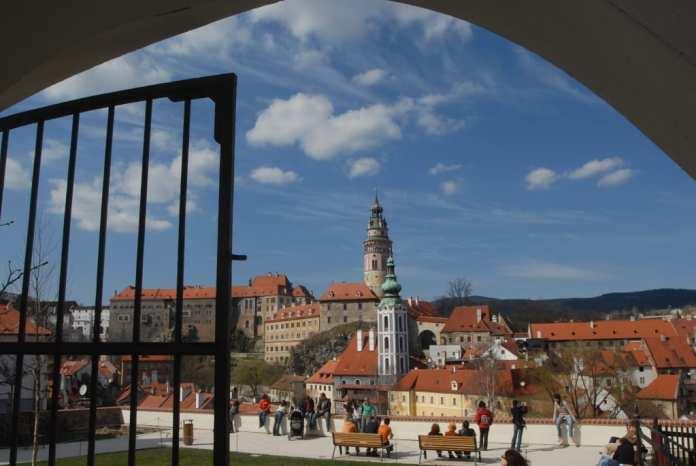 Blick auf Ceský Krumlov in Südböhmen