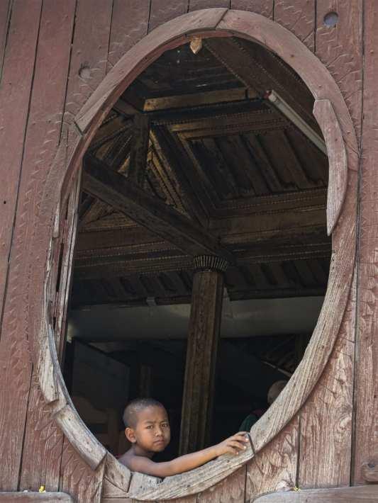 Kindermönch in Myanmar