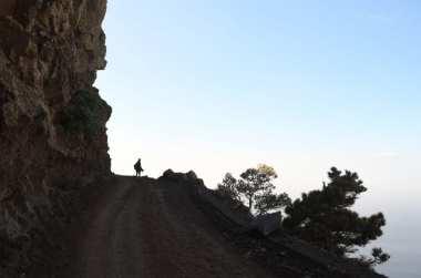 Wanderweg hoch über dem Valle Gran Rey