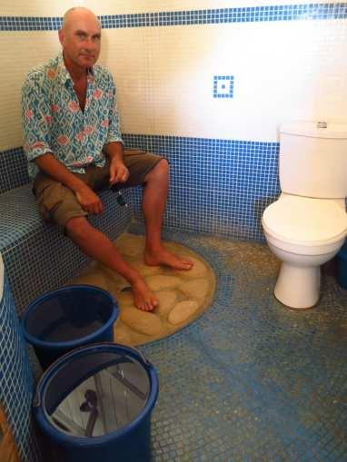 Bucket Shower in Madagaskar