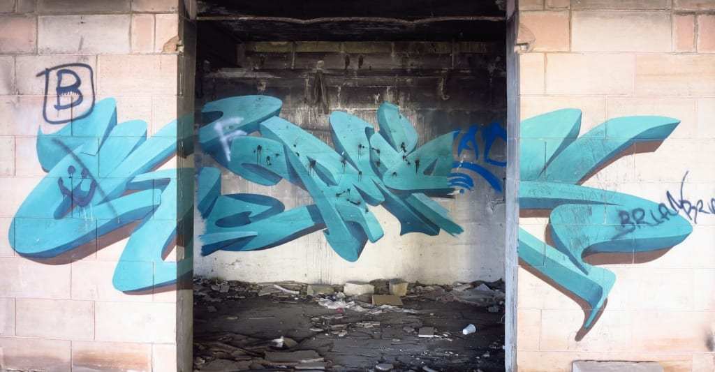 Street Art im Jerma Palace in Malta