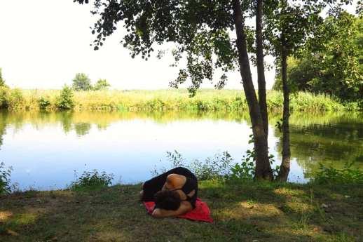 Camping Insel: gemütlich arbeiten, gemütlich chillaxen