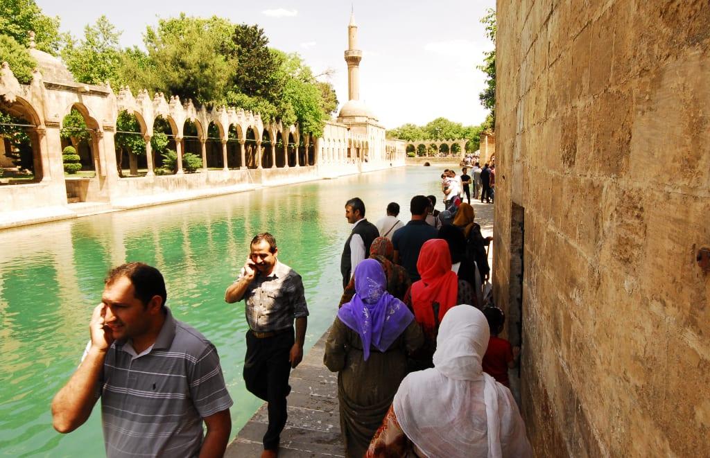 Die Heiligen Teiche von Urfa in det Türkei