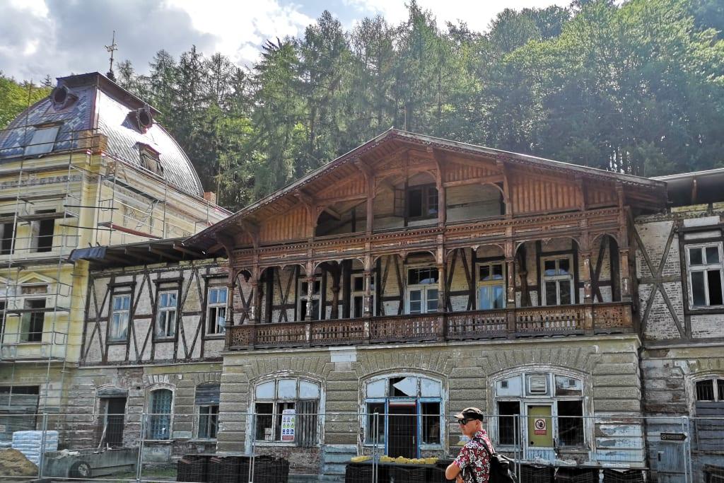 Marode Häuser in Westböhmen