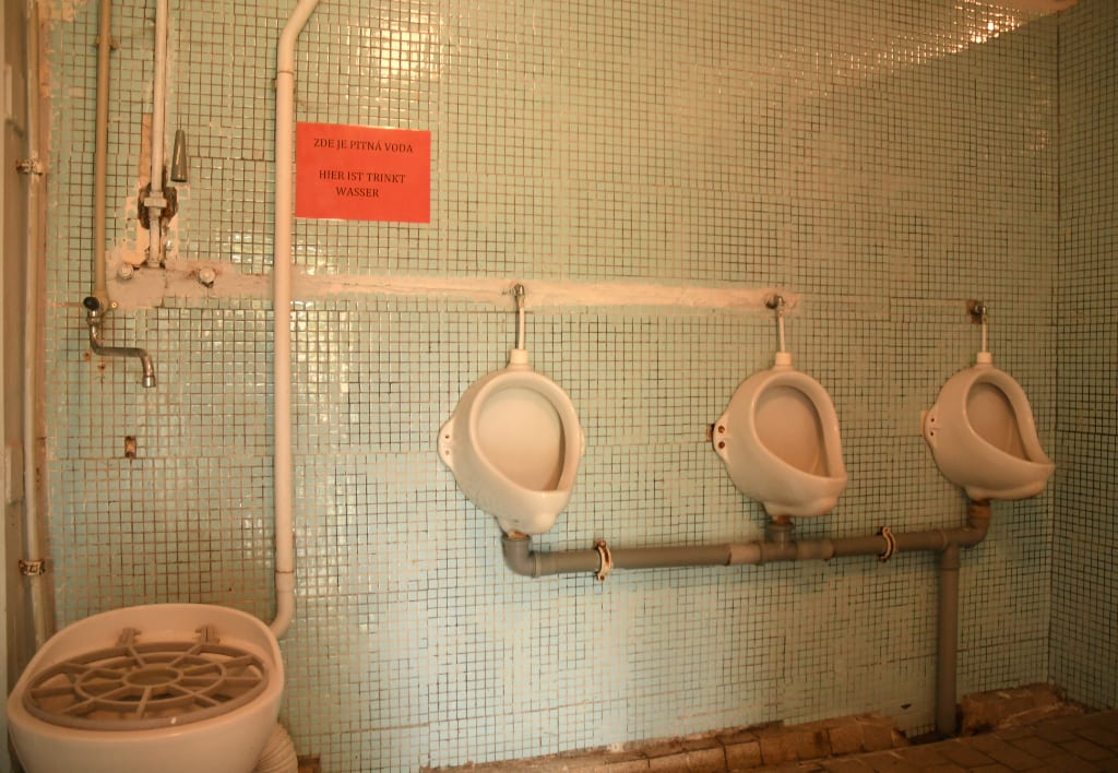 Pissoirs einer Toilette