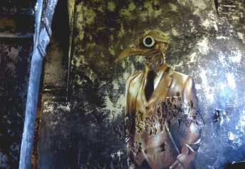 Mural mit Vogel