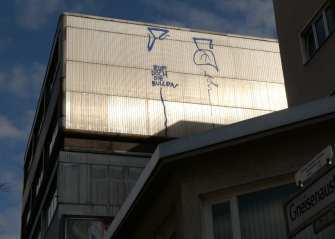 Schmierereien an Häuserwand