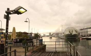 Hafen in Schummerlicht