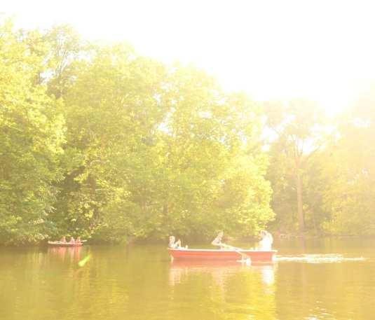 Ruderboot in einem See