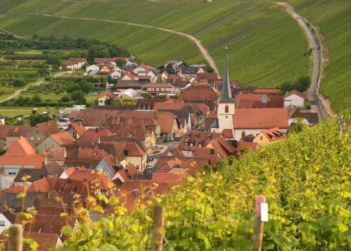 Pittoreskes Dorf in den Weinbergen