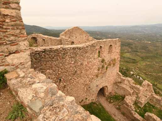 Ruinen einer Burg mit Aussicht