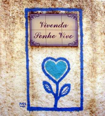 Blaues Herz Vivenda Sonho Vivo