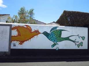 Küssende Vögel Mural