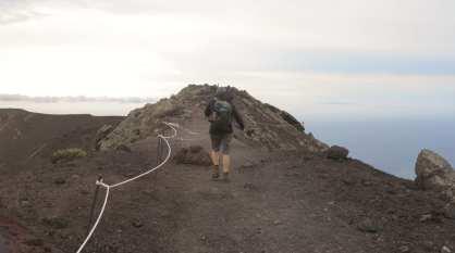 Wanderung in Vulkanasche