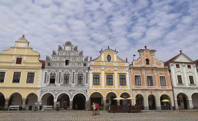 Renaissancehäuser einer Kleinstadt