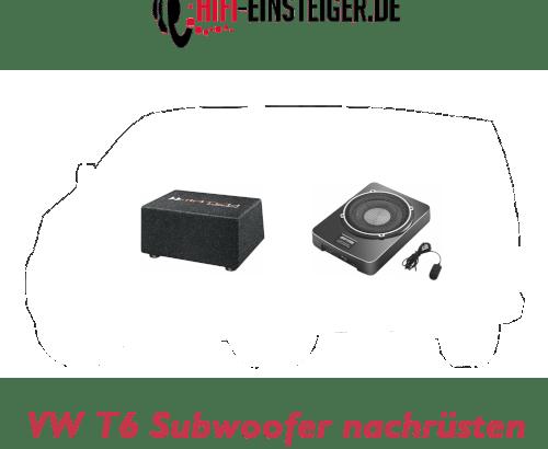 VW T6 Subwoofer nachruesten Hifi EInsteiger