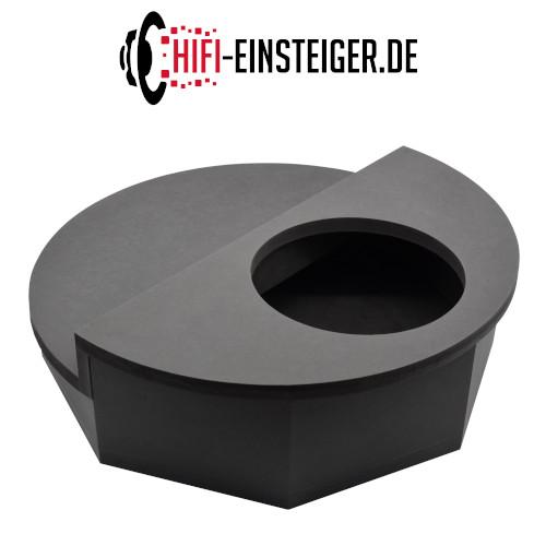 Reserverad Subwoofergehäuse MDF schwarz Draufsicht