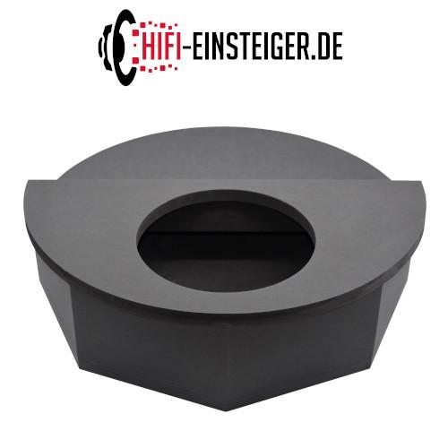 Reserverad Subwoofergehäuse MDF schwarz Rückansicht