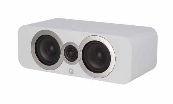 Q Acoustics 3090 Ci è un diffusore centrale bianco