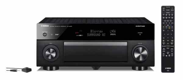 Yamaha RX-A1080 è un sintoamplificatore audio video nero