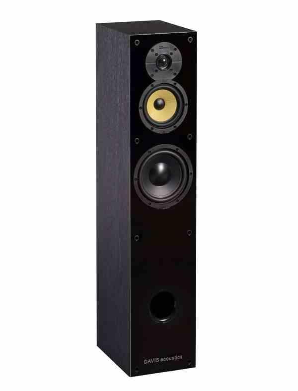 Davis Acoustics Balthus 50 è un diffusore da pavimento nero aperto