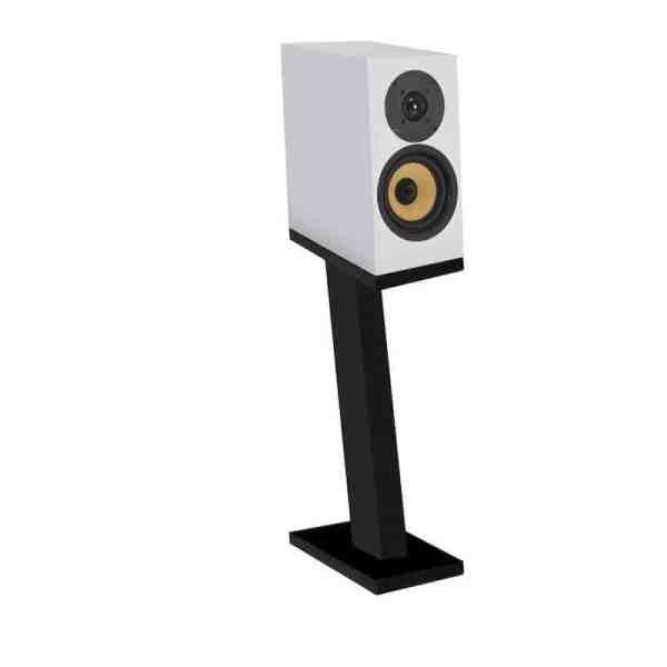 Davis Acoustics Courbet N°3 è un diffusore da stand bianco aperto
