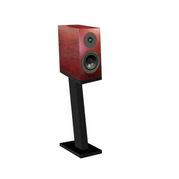 Davis Acoustics Courbet N°3 è un diffusore da stand mogano rosso aperto