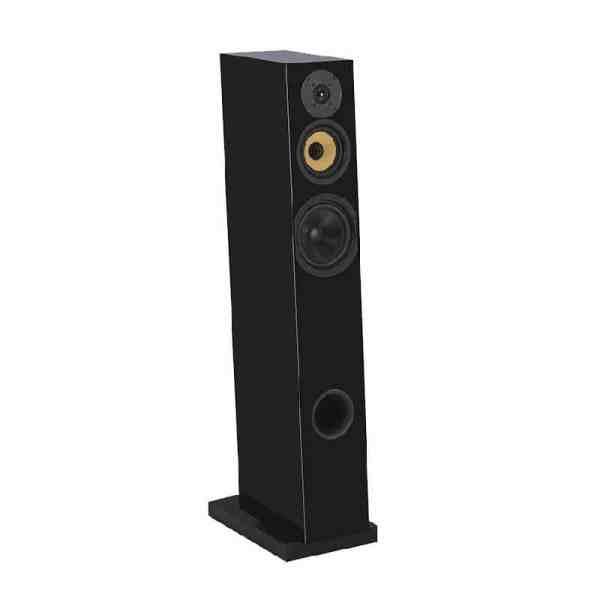 Davis Acoustics Courbet N°7 è un diffusore da pavimento nero aperto