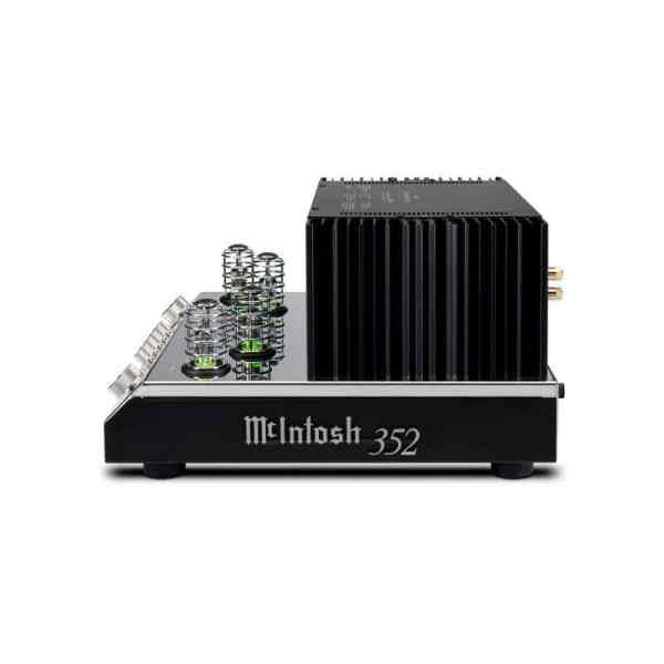 Mcintosh MA352 è un amplificatore integrato nero e cromato lato