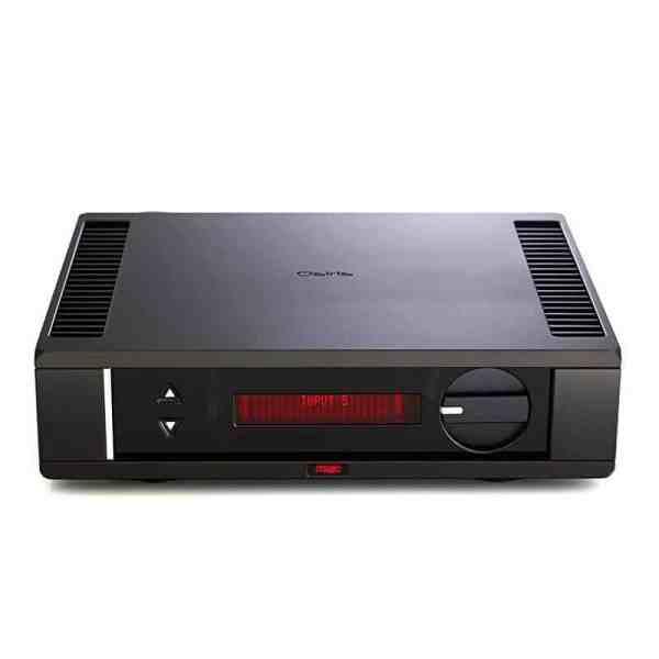Rega Osiris Amplifier è un amplificatore integrato nero fronte