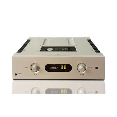 Eam Lab Musica 102i è un amplificatore integrato silver fronte